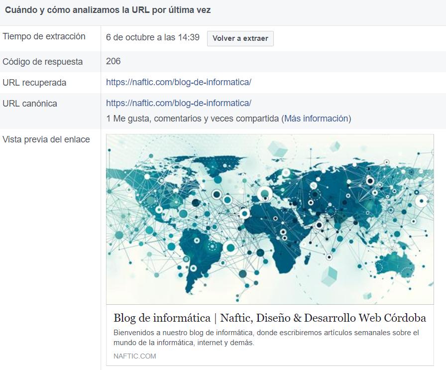 personalizar la vista previa de facebook
